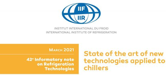 "Nota informacyjna IRR ""State of the art of new technologies applied to chillers"""