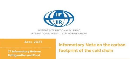"Nota informacyjna IRR ""Carbon footprint of the cold chain"""
